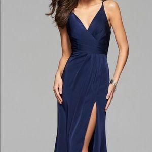 Faviana 7755 faille satin dress